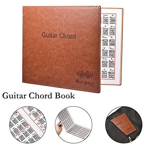 OUYAWEI Muspor Guitar Chord Book Chart Draagbaar Paperback Boek voor Akoestisch/Klassiek/Elektrisch Gitaar