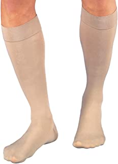 JOBST Relief Knee High 20-30 mmHg Compression Socks, Closed Toe, Beige, Large