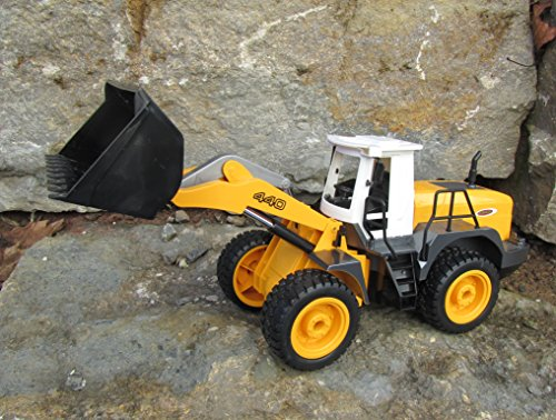 RC Baufahrzeug kaufen Baufahrzeug Bild 1: Jamara RC Bagger Radlader Inklusive Kieselsteine 440 1:20 Länge 44cm Ferngesteuert*