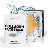 new body® Collagen Stirn- und Gesichtsmaske Gold gegen Falten - 15 Forehead Mask Pads mit Anti Falten Wirkung - Maske gegen Schwellungen und Fältchen im Stirnbereich