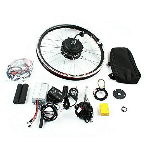 Aohuada Kit de conversión para rueda delantera de bicicleta eléctrica de 20 pulgadas, 36 V/48 V, 250 W/1000 W, motor eléctrico, kit de conversión LED (20 pulgadas, 48 V, 1000 W)