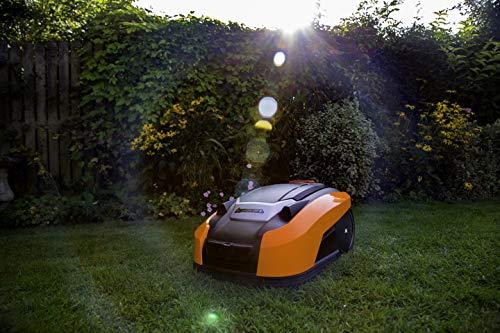 Yard Force YardForce X100i Mähroboter mit App-Steuerung - Selbstfahrender Rasenmäher Roboter mit Multizonen-Programm - Akku Rasenroboter für bis zu 1000 m² Rasen & 40% Steigung, 28 V, schwarz/orange - 7