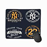 Mousepad Custom Design Gaming Mouse Pad Rubber Oblong Mouse Mat 11.81 X 9.84 Inch Set New York Graphic Original Clothes Design Vintage Typography Print Apparel Set New York Graphic