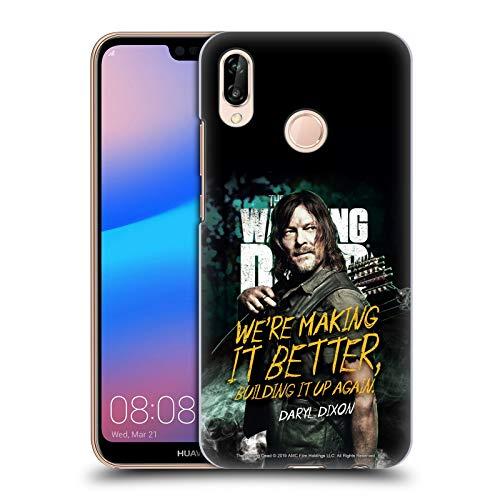 Head Case Designs sous Licence Officielle AMC The Walking Dead Daryl Saison 9 Citations Coque Dure pour l'arrière Compatible avec Huawei P20 Lite