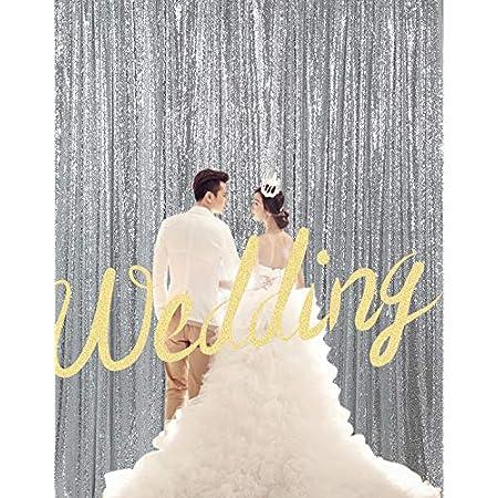 Kate Fotohintergrund Pailetten Silber Hochzeit Elektronik
