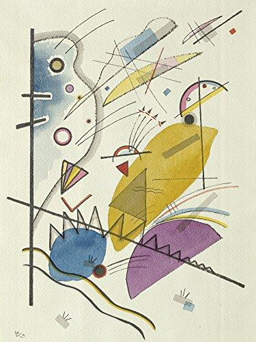 Artland Alte Meister Kunst Wandtattoo Wassily Kandinsky Bilder Bauhaus 40 x 30 cm Durchgehender Strich Kunstdruck Klebefolie Gemälde R0ON