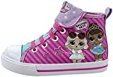 L.O.L Surprise! Girls Shoe, Miss Baby and Leading Baby Hi Top Sneaker, Pink White, Little Kid/Big Kid Size 7 to 12 (3 Big Kid, Pink)