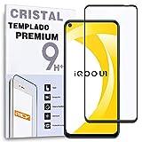 REY Protector de Pantalla Curvo para Vivo IQOO U1 5G, Negro, Cristal Vidrio Templado Premium, 3D / 4D / 5D, Anti Roturas