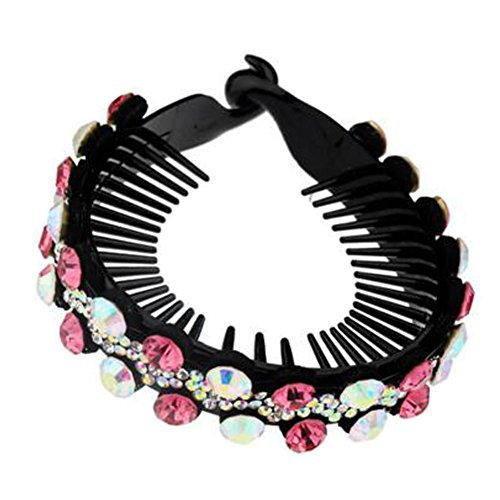 Mesdames Elegant Rhinestones Hair Bun Décor Ponytail Clip Hair Accessories, No.3