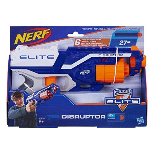 Hasbro Nerf B9837EU4 N-Strike Elite Disruptor Arma giocatolo, 6 Darti, 8+ anni, Gittata fino a 25 metri, Multicolore