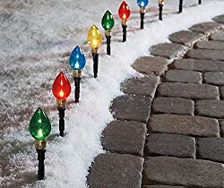 lighted bulb pathway