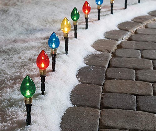 Multi-Color Light Bulb Pathway Markers, 11 Inch (2.76 Inch Bulb), 10 Pack