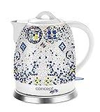 CONCEPT Hausgeräte RK0020 Keramik Wasserkocher, Einzigartiges Design, Hauch von Orient, 1,5 L,...