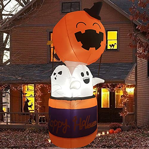 Halloween Decorations and Outdoor Halloween Decor – 6FT Halloween Inflatables with Cute Pumpkin,Halloween Decorations Indoor from Professional Designer