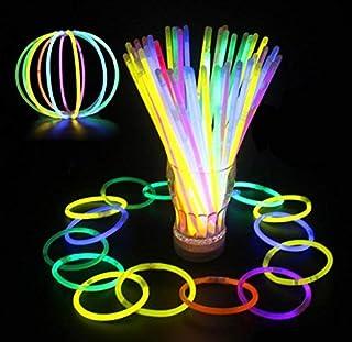 Glowz Glow Sticks Glow In The Dark Pulseras Premium (Colores Mezclados) 100 Pack -