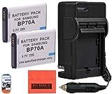 BM Premium 2-Pack of BP-70A, BP70A Batteries...