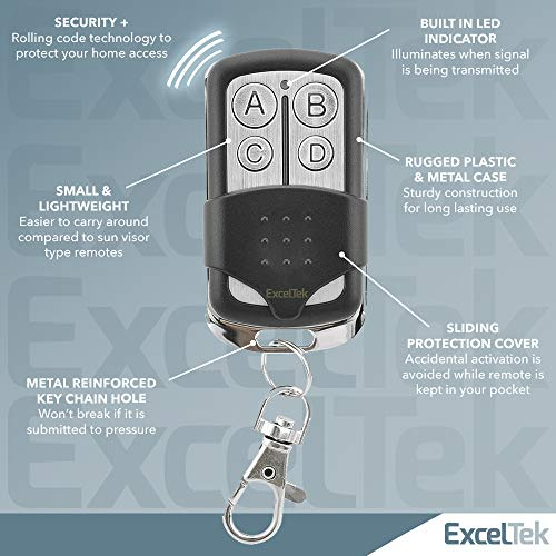 ExcelTek 371LM Compatible Garage Door Remote Control with Purple Learn Button Liftmaster Chamberlain Craftsman 370LM 139.53753 139.53930 139.18191 (1 Pack 371LM)
