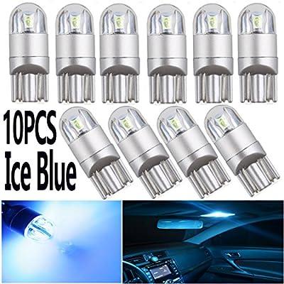 T10 W5W 194 LED Light Bulbs Ice Blue12V 3030 2S...