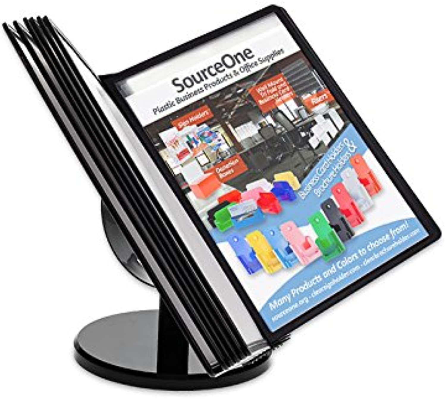 Source One Commercial Menu, Wholesale Vendor Catalog, Sales Organizer Quick Find Reference Holder Display 20 Page