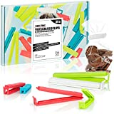 com-four® 36x Clips de Cierre plásticos en Varios tamaños y Colores, para congelador, Cereales, nueces o café (36 Piezas - 6cm/8cm/11cm/14cm)