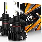 AUXIRACER Automotive Lighting H7 LED Lampadine per Fari 12000LM 6500K 60W Led Lampadine Auto LED, Fari e Fendinebbia IP65,2 pezzi
