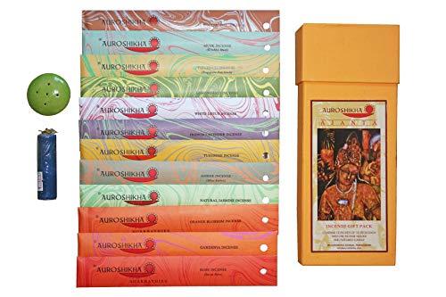 Auroshikha Agarbatties Incense Sticks - Gift Box Pack of 6, 8,10, 12 Incense, 10gm Each Incense Joss Sticks (AJANTA GIFT BOX- PACK OF 12 INCENSE)