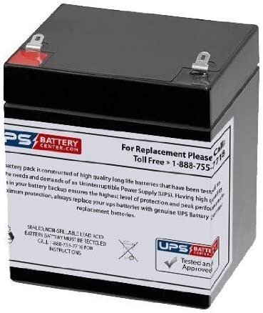 Power Kingdom PS4-12 12V 5Ah F1 Compatible Replacement Battery by UPSBatteryCenter