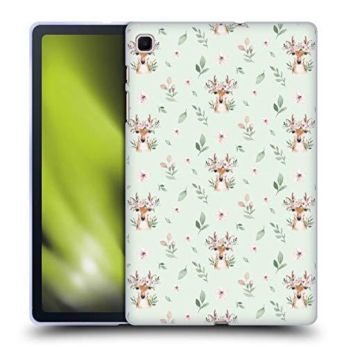 Head Case Designs Officially Licensed Kristina Kvilis Patrón de Ciervo Animales Lindos Carcasa de Gel de Silicona Compatible con Samsung Galaxy Tab S6 Lite