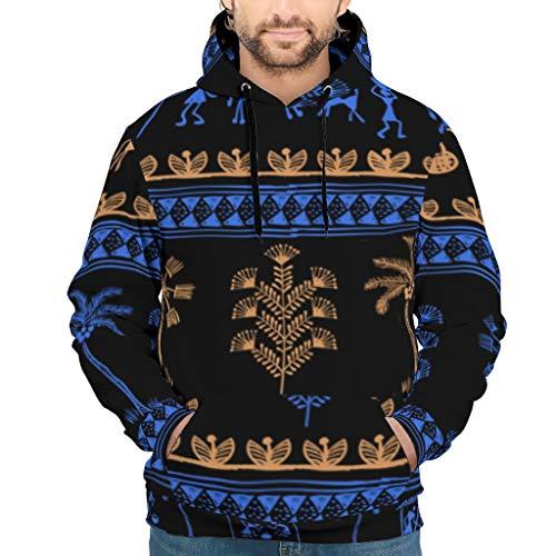 JEFFERS Mens Oversized Hooded Sweat Sweatshirt Egypt India Mayan Slim Sweatshirt Pullover Rundhals Für Mädchen White 4XL