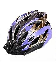 Huai1988 Fietshelm, fietshelm, lichtgewicht fietshelm, volwassen fietshelm met zonneklem/afneembaar vizier sport mountainbikehelm veiligheidsbeschermende helm voor volwassen kinderen