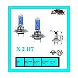 Bombillas/Lamparas H7 12V 55W halogenas luz blanca efecto xenon (2 unidades, marca Eagleye)