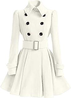 Fensajomon Mens Winter Casual Business Wool Blend Longline Pea Coat Trench Jacket Overcoat