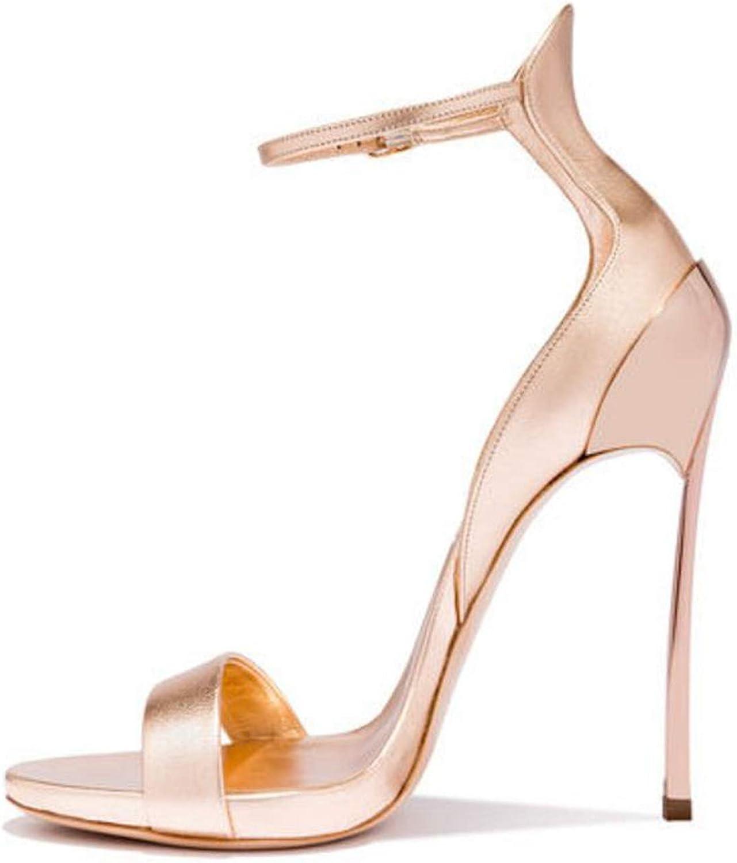 QianQianStore Size 33-43 Supper High Heel Sandals Ankle Strap Thin Heel Platform Ladies Summer Sexy