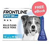 Frontline Spot On For Medium Dogs - 3 Pipettes - INCLUDES EXCLUSIVE PETWELL® FLEA AND TICK E BOOK