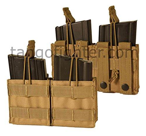 CONDOR MA24-003 Double Open Top M14 Mag Pouch Coyote Tan
