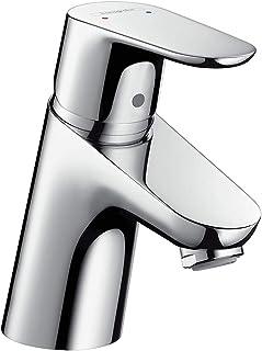 hansgrohe Wasserhahn Focus Armatur mit Auslauf Höhe 70mm und Zugstangen-Ablaufgarnitur Chrom