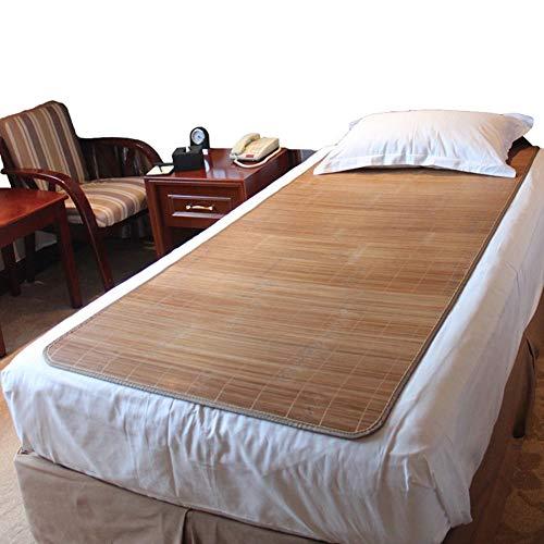 Mobile Klimageräte Bambus-Bettmatte Coole Matratze, Bettwäsche Strohmatte Sommer Schlafmatten Bettmatte Einzelbett Student Dorm Zimmer Schlafzimmer Multifunktions (Color : A, Size : 0.9×1.9m)