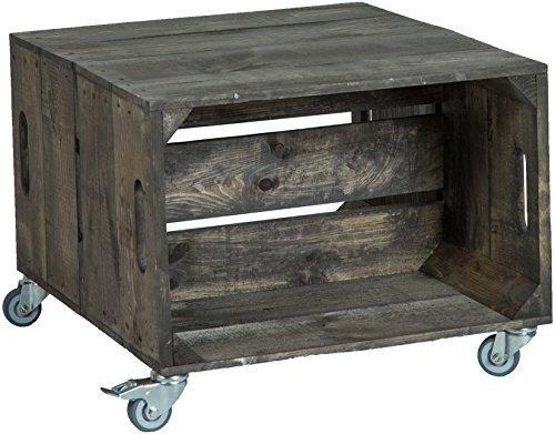 Mesa baja, cuadro de sofá, mesa de café, caja de madera, estantería de frutas, altisch de lluvia, mesa de salón, color oscuro