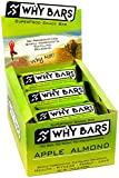 Why Bars - Superfood Snack and Sports Nutrition Energy Bar with Organic Chia Seed - Vegan, Gluten Free, Soy Free, Dairy Free, and Preservative Free - (Apple Almond, 9 Bar Display)