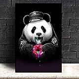zxddzl Lindo Cartel de Dibujos Animados e Impresiones Panda Animal Lienzo Pintura vivero habitación de bebé Imagen de Arte de Pared