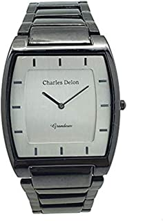 Charles Delon Mens Quartz Watch, Analog Display and Stainless Steel Strap 4892 GBSB