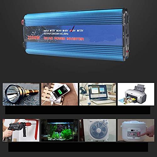 Daily Accessories Car Inverter 500W Pure Sine Wave Inverter 500w 12v 220v Home Car Inverter Power Power Transformer For Camper/Boat/Truck Blue500W 72V