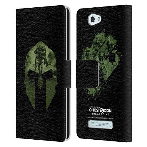 Head Case Designs Offizielle Tom Clancy's Ghost Recon Breakpoint Nomaden Logo Grafiken Leder Brieftaschen Huelle kompatibel mit Wileyfox Spark/Plus