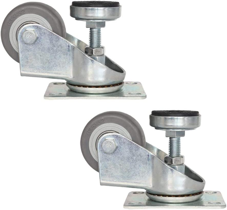 Nisorpa ajuste horizontal Rueda de apoyo para ruedas de Fuma universal pesado industrial silencioso equipo auxiliar giratorio tipo tornillo