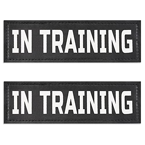 MUMUPET Dog Vest Patches, 2 PCS Removable Patches for Dog Harness – Emotional Support/Service Dog/in Training/THAREPY Dog/DO NOT PET PU Dog Harness Patches