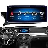 Road Top Android 10 Auto Stereo 10.25'Pantalla táctil para Mercedes Benz C Klasse W204 2012 2013 2014 Jahr, Unterstützt eingebaut in Wireless CarPlay -Split Bildschirm 4GB RAM GPS Auto Stereo Radio