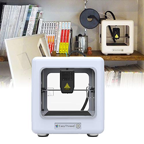 HUKOER Mini 3D Printer,Portable Fully Assembled 3D Printer with Slicing Software 90 * 110 * 110mm,One Key Printing for Household Education & DIY Children Gifts(with CE)(White)