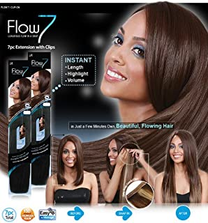 Flow 7 100% Human Hair Clip in Extensions By Bobbi Boss (1)