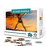 zhangkk Rompecabezas de 300 Piezas Wonder Woman Impossible Puzzle Juego de Rompecabezas desafiante y Juegos Familiares Rompecabezas 38x26cm