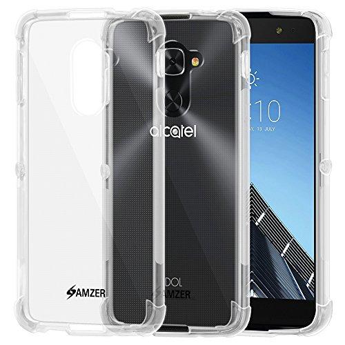 Amzer Slim TPU X Schutzhülle für Alcatel Idol 4S (stoßdämpfende Technologie) Transparent